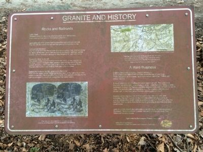 Granite and History Marker image. Click for full size.