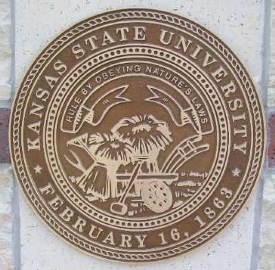 Kansas State University Emblem at Partner City Flag Plaza image. Click for full size.