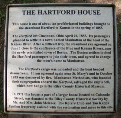 The Hartford House Marker image. Click for full size.