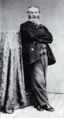 Walt Whitman, about 1860. image. Click for full size.