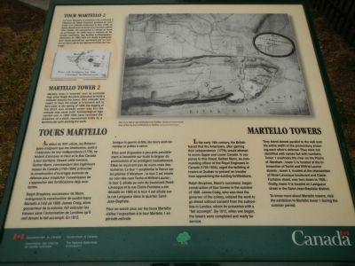Martello Towers / Tours Martello Marker image. Click for full size.