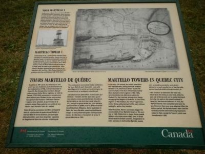 Martello Towers in Quebec / Tours Martello de Québec Marker image. Click for full size.