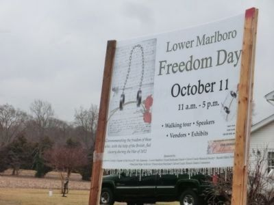 Lower Marlboro Town Marker-Freedom Day image. Click for full size.