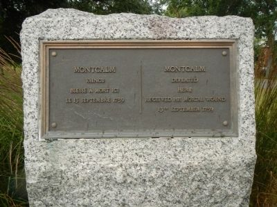 Montcalm Marker image. Click for full size.