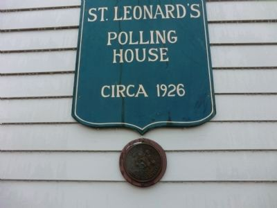 St. Leonard Polling House and Garden of Remembrance Marker image. Click for full size.