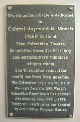Colonel Raymond E. Morris, USAF Retired Marker image. Click for full size.