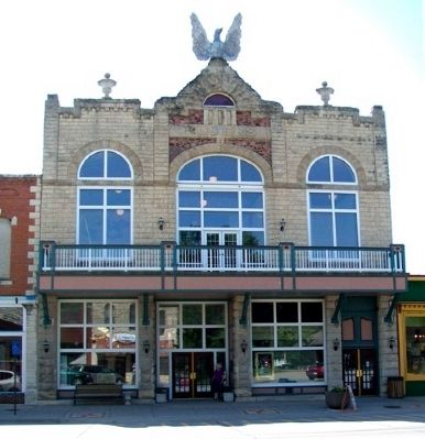The Columbian Theatre, Topped by Eagle Replica image. Click for full size.