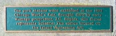1893 Chicago World's Fair Statues Marker image. Click for full size.