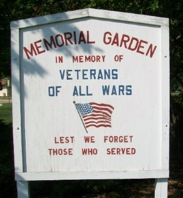 Memorial Garden Sign image. Click for full size.