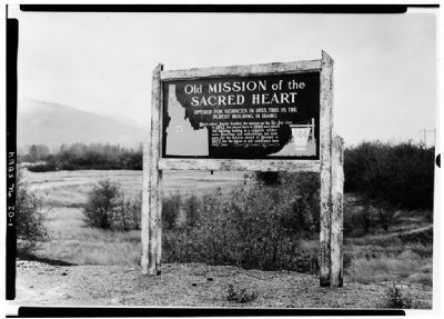 Earlier version of the Old Mission of the Sacred Heart Marker image. Click for full size.