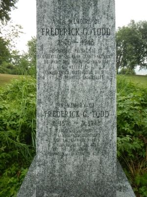Frederick G. Todd Marker image. Click for full size.