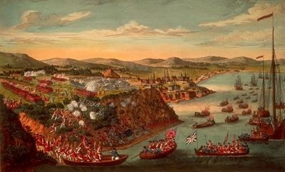 <i>A View of the Taking of Quebec</i> image. Click for full size.