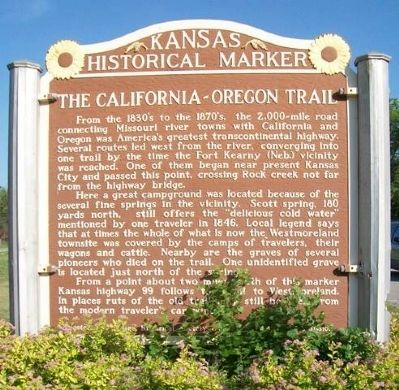 The California - Oregon Trail Marker image. Click for full size.