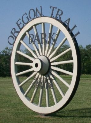 Oregon Trail Park Sign image. Click for full size.