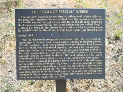 "The ""Orange Special"" Wreck Marker image. Click for full size."
