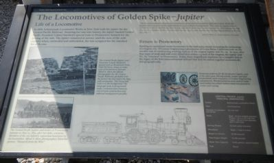The Locomotives of Golden Spike - <i>Jupiter</i> Marker image. Click for full size.