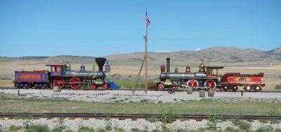 The <i>Jupiter</i> and <i>No. 119</i> at Golden Spike National Historic Site image. Click for full size.