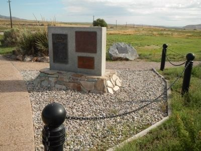 Commemorative plaques at the Golden Spike National Historic Site image. Click for full size.