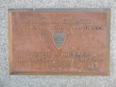 Civil Engineering Plaque image. Click for full size.