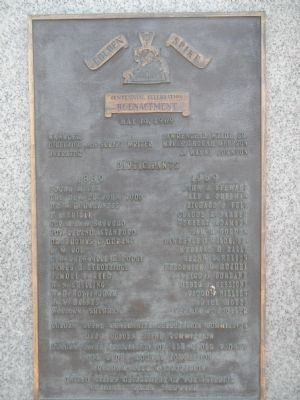 Golden Spike Centennial Celebration Reenactment plaque image. Click for full size.