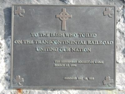 Irish Commemorative Plaque image. Click for full size.