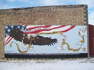 War Memorial Mural image. Click for full size.