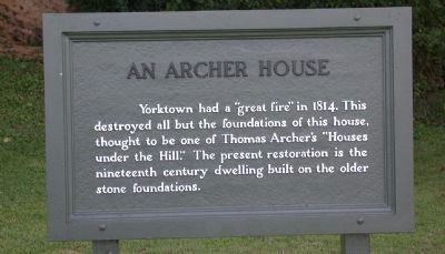 An Archer House Marker image. Click for full size.