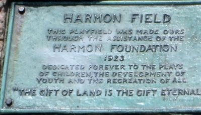 Harmon Field Marker image. Click for full size.