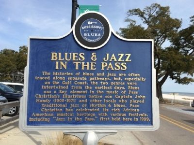 Blues & Jazz in the Pass Marker (front) image. Click for full size.