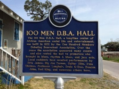 100 Men D.B.A. Hall Marker (Front) image. Click for full size.