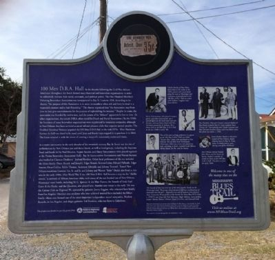 100 Men D.B.A. Hall Marker (Rear) image. Click for full size.