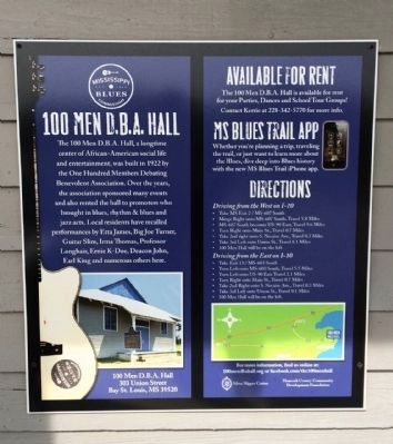 100 Men D.B.A. Hall Information and uses. image. Click for full size.