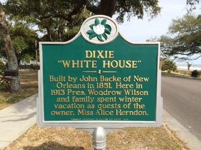 Dixie White House Marker image. Click for full size.