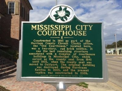 Mississippi City Courthouse Marker image. Click for full size.
