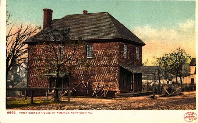 <i>First Custom House in America, Yorktown, Va.</i> image. Click for full size.
