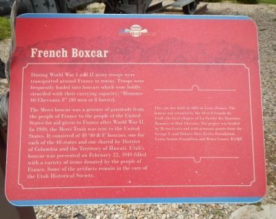 French Boxcar Marker image. Click for full size.