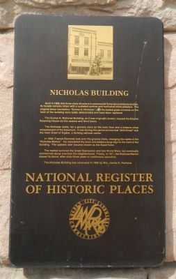 Nicholas Building Marker image. Click for full size.