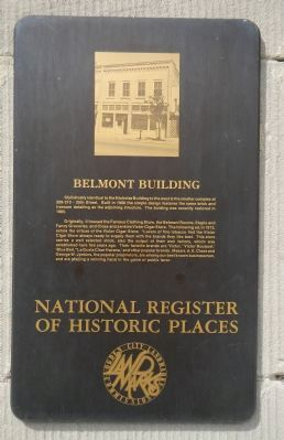Belmont Building Marker image. Click for full size.
