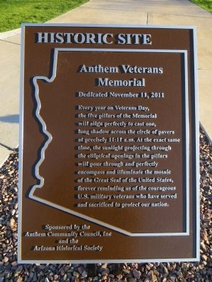 Anthem Veterans Memorial Marker image. Click for full size.