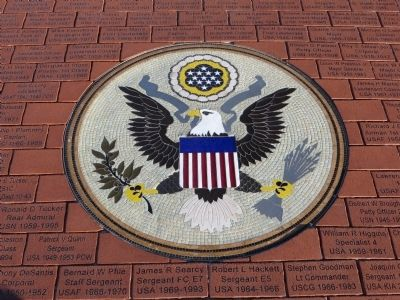 Mosaic of the Great Seal of the United States image. Click for full size.