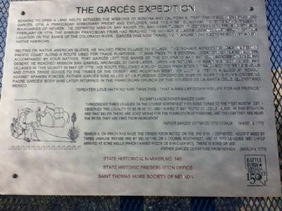 The Garces Expedition Marker image. Click for full size.
