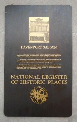 Davenport Saloon Marker image. Click for full size.