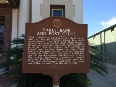Early Bank and Post Office Marker image. Click for full size.