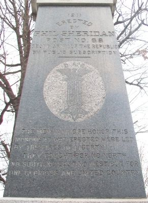 Civil War Memorial Inscription image. Click for full size.