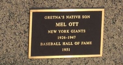 Mel Ott Marker image. Click for full size.