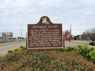 Jefferson Parish Marker image. Click for full size.