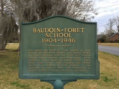 Baudoin - Foret School Marker image. Click for full size.