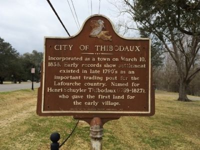 City of Thibodaux Marker image. Click for full size.
