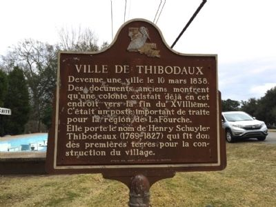Ville de Thibodaux Marker (Side 2) image. Click for full size.