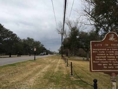 View west on State Highway 1 from marker. image. Click for full size.